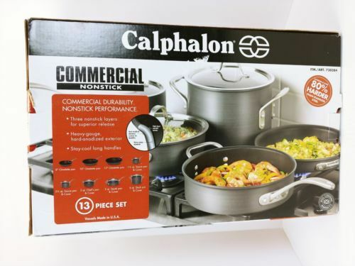 Pré Calphalon Cookware Set commercial - 13 pièces
