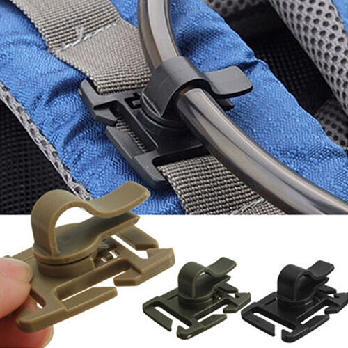 AM/_ 2Pcs Water Bladder Tube Trap Hose Clip for Webbing Hydration Backpack Stylis