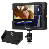 "Aputure VS-5 7"" LCD waveform vectorscope HD-SDI field monitor + Sun hood"