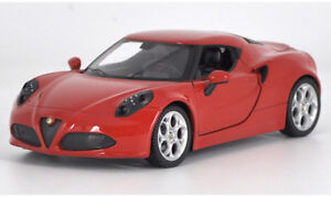 Welly-1-24-Alfa-Romeo-4C-Red-Diecast-Model-Racing-Car-New-in-Box