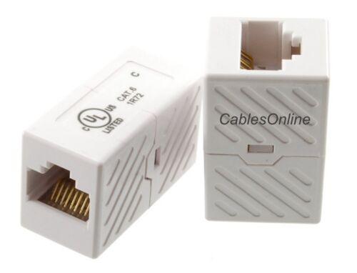 5-Pack CAT6 RJ45 Gigabit Network Female to Female Mini Inline Couplers T-6602-5