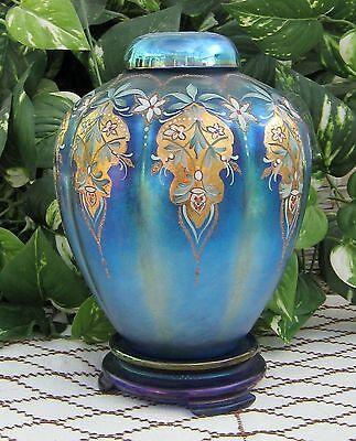 Fenton SAMPLE Favrene Ginger Jar Set Designed Signed M. REYNOLDS circa 1995