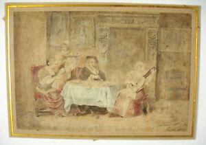 GéNéReuse Alexis N. Le Jeune Perignon (1785-1864) Aquarelle 1823 Louvre Carnavalet Girodet