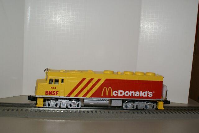 NEW IN BOX MTH MCDONALDS F40PH LOCO-SOUND BNSF CUSTOM & CABOOSE  30-2276-0