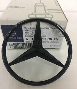 Mercedes-Benz-A-Class-W176-Gloss-Black-Rear-Boot-Badge-Star-A1768170016-Black