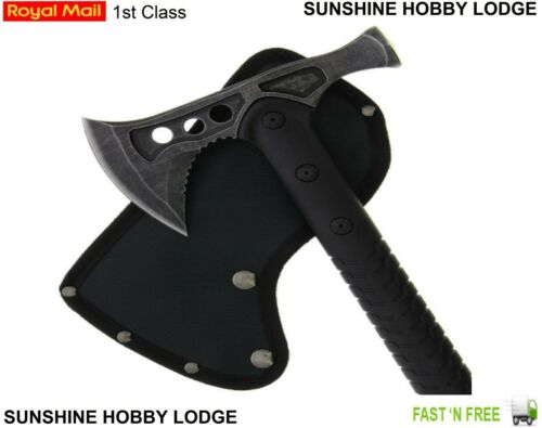 Camping Axe Military Survival Style Axe With Hammer Head Ultra Sharp Blade New