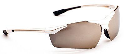 Mens Ladies Dark Wrap Around Visor Sports Ski Biker Fishing Sunglasses White New