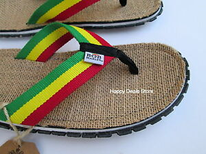 4df3e1f1d13f Bob Marley Fresco Sand Green Yellow Red Mens Flip Flop Sandals Sizes ...