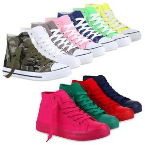 01f1d3535b1f82 Das Bild wird geladen Damen-Sneakers-Kult-Sportschuhe-70861-Stoffschuhe -Schnuerer-Gr-