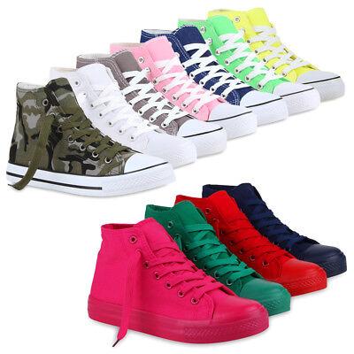 Damen Herren Sneakers Kult Sportschuhe 70861 Stoffschuhe Schnürer Schuhe | eBay