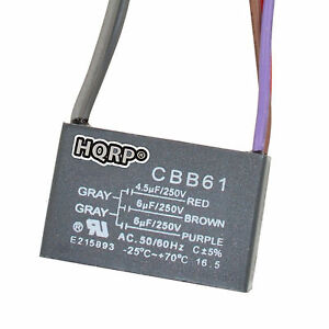 hqrp capacitor for hampton bay ceiling fan cbb61. Black Bedroom Furniture Sets. Home Design Ideas