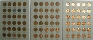 Complete-set-1941-1974-PDS-Lincoln-Wheat-amp-Memorial-Penny-Cent-Set-G-BU-90-coins