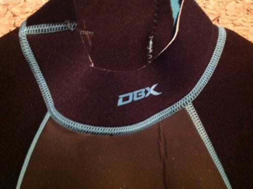Black gray New  Womens 10 DBX 3//2 MM Shorty Wetsuit turquoise.