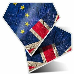 2-x-Diamond-Stickers-7-5-cm-European-Union-Jack-Flag-UK-Brexit-8430