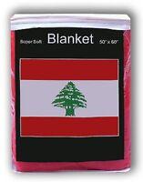 Lebanon Flag Fleece Throw Blanket 50 X 60 - Lower Price