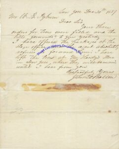 San-Jose-California-arborist-John-Q-A-Ballou-signed-letter-1857-re-trees