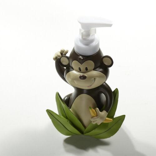 Monkey 5-Piece Resin Bathroom Accessory Toothbrush Holder Soap Dish Tumbler Set
