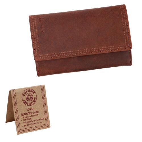 Damen Geldbörse Echt Leder//VintageLook//Hand Arbeit//Voll-Leder Austattung Pedro