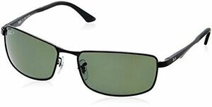 3017c8277a Authentic Ray Ban Polarized Sunglasses Rb3498 002 9a 64 Metal Black 3498