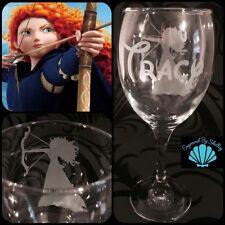 Personalised Disney Brave, Merida Wine Glass Handmade Gift Free Name Engraving!