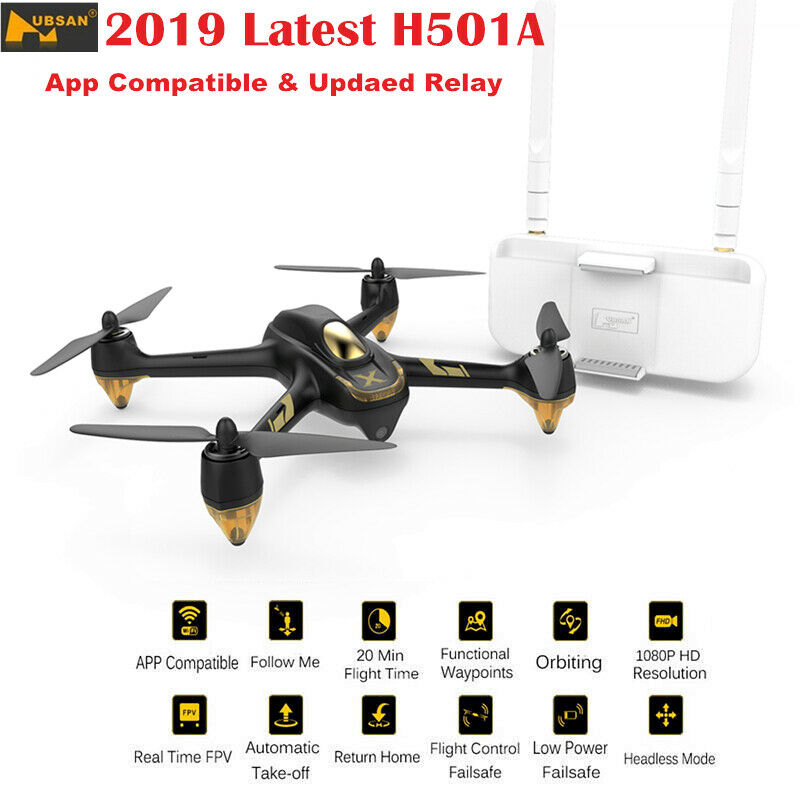 Hubsan X4 H501A RC Wifi  Quadcopter Brushless FPV 1080P GPS Waypoint Drone +Relay  popolare