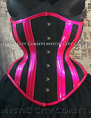 NEW MCC-95 COTTON PVC UNDERBUST CORSET TIGHTLACING WAISTTRAINING MYSTIC CITY