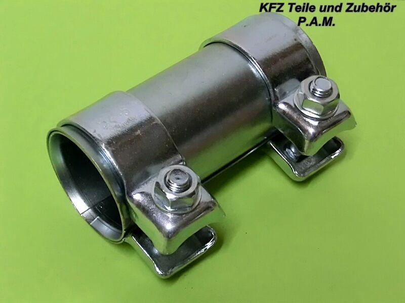 Auspuffschelle 45-49,5 x 90 mm Rohrverbinder Verbindungsrohr Doppelschelle