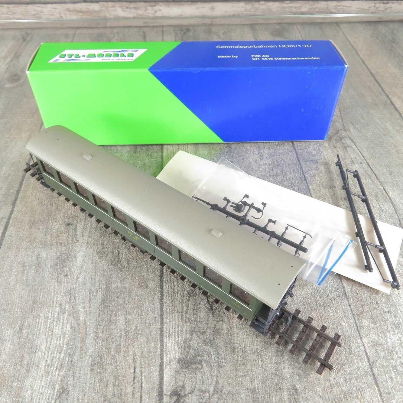 STL-Models 2201/2 - H0m - Personenwagen - RhB - 2.Klasse - OVP -  C15570