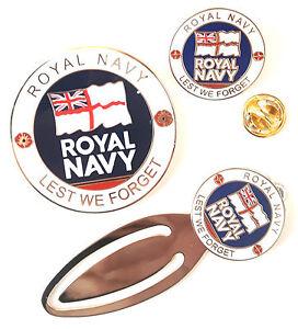 Royal-Navy-Full-Set-Commemorative-Enamel-Coin-Badge-And-Bookmark-Gift-Set