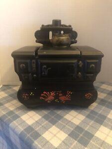 Vintage McCoy Pottery Black Cook Stove Cookie Jar