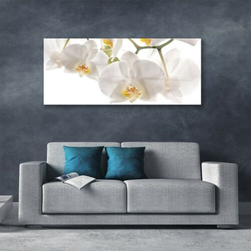 Print on Glass Wall art 125x50 Picture Image Flowers Floral