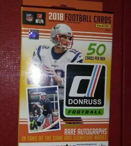2018-PANINI-Donruss-Football-50-ct-Hanger-Box-Pack-Possible-Allen-Barkley-Rc