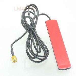 Antenna-433MHz-3dbi-GSM-GPRS-SMA-male-plug-SMT-SMD-1-5M-RG174-cable-Ham-radio