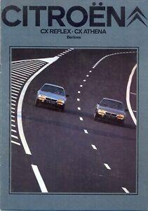 CITROEN-CX-Reflex-amp-Athena-1980-81-Swiss-Market-Sales-Brochure