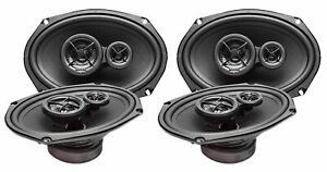 Pairs 2 Skar Audio SK69 Performance 6-Inch x 9-Inch 3-Way Coaxial Speakers - 2