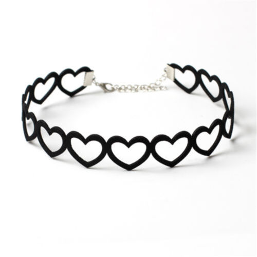 Heart Velvet Choker Punk Vintage Gothic Chain Necklace Collar Charm Jewelry Gift