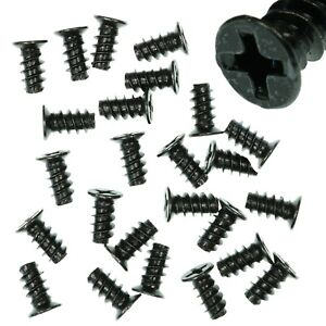 Pack-of-25-5x10mm-Black-PC-Fan-Screws-Computer-Case-Chassis-80mm-120mm