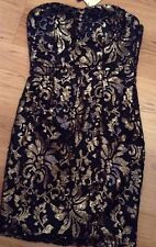 "BNWT "" NEXT "" Size 8 GOLD SEQUINED DRESS Party, Weddings Evening  (36 EU) Black"