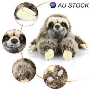 13-7-034-Sloth-Plush-Cute-Animals-Lying-Three-Toed-Cuddly-Soft-Stuffed-Toy-New