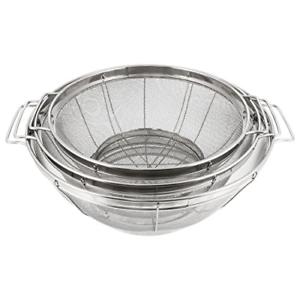 U.S Kitchen Supply 3 Piece Colander Set Stainless Steel Mesh Strainer Net