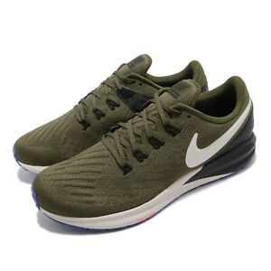 Nike-Air-Zoom-Structure-22-Olive-Canvas-Light-Bone-Men-Running-Shoes-AA1636-300