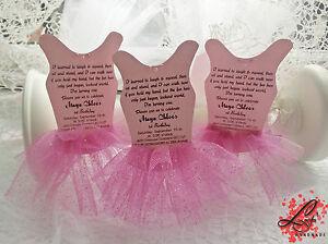 Detalles De Set 10 Bailarina Tutu Invitaciones Para Cumpleaños Baby Shower O Bautizo Fiesta Ver Título Original