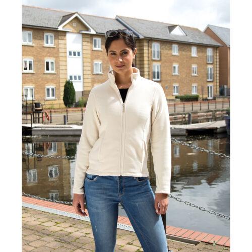 Result Ladies Semi-Micro Fleece Jacket Womens Smart Fit Winters Full Zip Coats