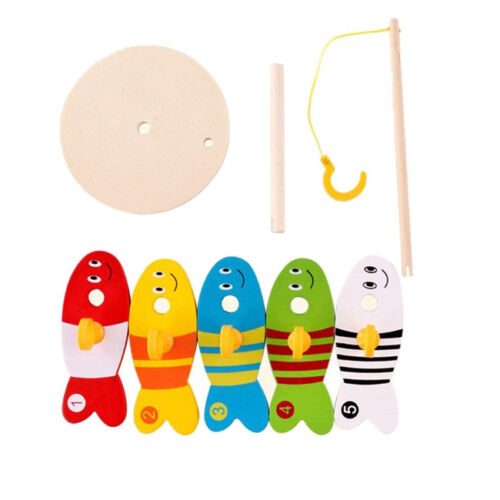 Fishing Toys Digital Fishing Column Wooden Toys Montessori Kids Toys Gift Shan