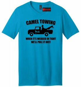 Camel-Towing-Funny-Mens-V-Neck-T-Shirt-Adult-Humor-Rude-Gift-Tee-Tow-Truck