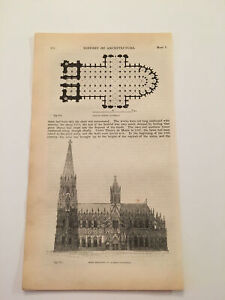 K66-Plans-of-Cologne-Cathedral-Germany-Architecture-History-1842-Engraving