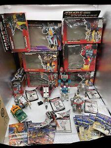 Lot of (8) 1984 G1 Transformers w/ Boxes & Paperwork!!! Grimlock, Ramjet, Etc.