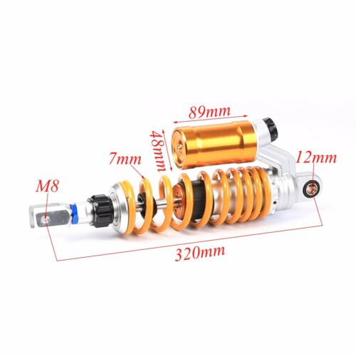 """2pcs 12.5/"""" 320mm Pair Air Rear Shocks Absorber Adjustible for 70cc-150cc Scooter"""