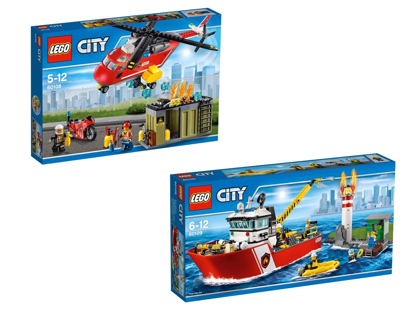 LEGO ® CITY bon Paquet 60108  60109 Pompiers-löscheinheit  POMPIERS bateau NEUF