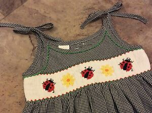 Boutique-Ladybug-Smocked-Sundress-In-Perfect-Condition-Sz-2T-Worn-Once